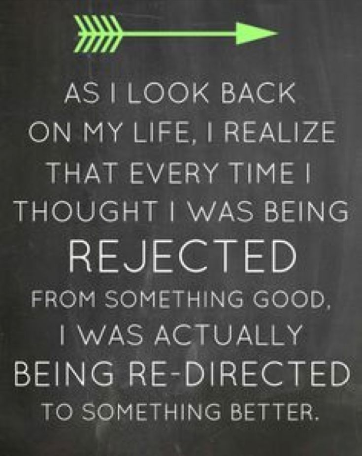 Image result for rejection is protection
